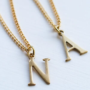image is loading letter initial necklace charm name chain gold alphabet