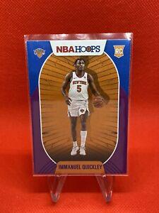 2020-21 Nba Hoops Base Purple Rookie Card Immanuel Quickley RC  Knicks #249 Mint