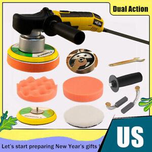 "6/"" Car Polisher Dual Action Buffer Sander Waxing Machine Polishing Pad Cover Kit"