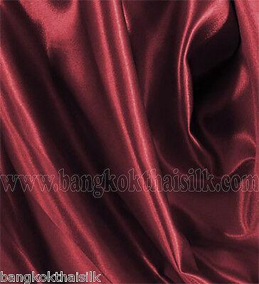 "BURGUNDY RED SATIN 60""W FABRIC BRIDESMAID DRESS WEDDING DECOR CHAIR TIES DRAPE"