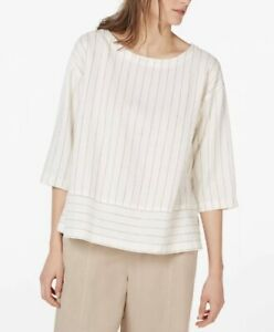 eileen fisher twisted pinstripes sustainable luxury