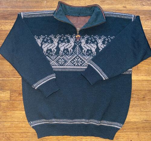 Mens Dale Of Norway Pullover Sweater L Deer Print