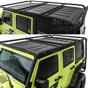 Cargo Roof Rack System Base Top Cross Bar For 07 18 Jeep Wrangler Jk