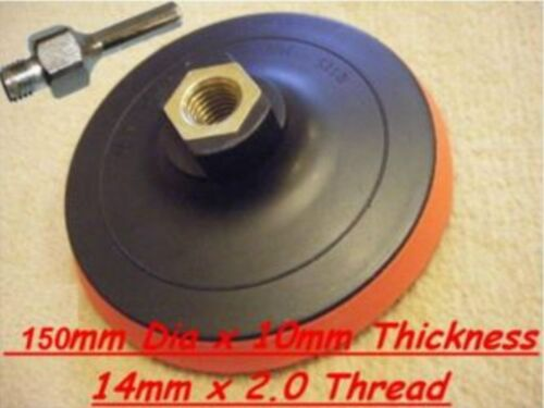 """Velcro backing pad 150mm pour 4 1//2/"""" /& 125mm angle grinders avec mandrin"""