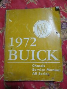 1972-Buick-Chassis-Shop-Service-Manual-All-Series-Preowned