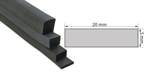 VKP5x20mm EPDM Vierkantprofil Rechteckprofil Moosgummiprofil Dichtband 5,65€//m