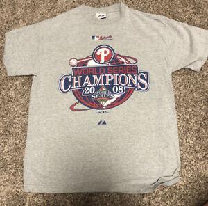Majestic-MLB-Authentic-World-Series-2008-Champions-Phillies-Baseball-Shirt-L