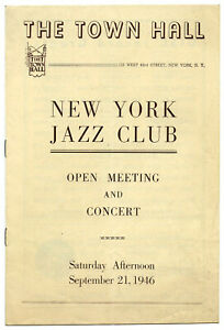 Authentic-1946-LEAD-BELLY-James-P-Johnson-Sidney-Bechet-Concert-Handbill-Program