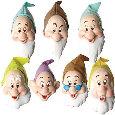 Bashful Dwarf Mask Adults Fancy Dress Snow White Fairy Tale Costume Accessory