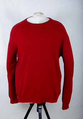 P323/48 M&s Collection Crew Neck Extrafine Lambswool Red Rouge Jumper L 41-43 In Sweaters Clothing, Shoes & Accessories