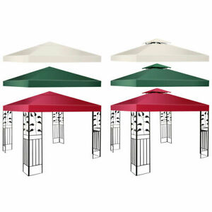 10-039-X-10-039-Gazebo-Top-Cover-Patio-Canopy-Replacement-1-Tier-or-2-Tier-3-Color