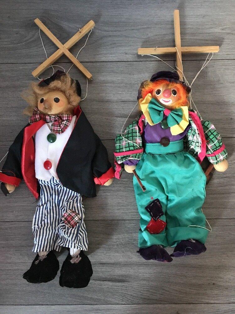 Marionetten Marionetten Marionetten Puppen Theater Clown Direktor 40cm Einzelstück a13024