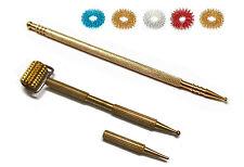 Sujok Acupressure Metal Mini Roller & Mega Long Probe Jimmys (2 Types) + 5 Rings