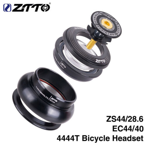 "ZTTO MTB Bike Headset 4444T 44mm CNC 1 1//8/""-1 1//2/"" Straight Tube Frame Headset"