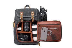 DSLR-Camera-Canvas-Backpack-Front-Open-Large-Anti-shock-SLR-Travel-Camera-Bag