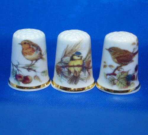 Set of Three Birchcroft Thimbles Tavernas