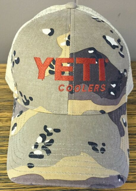 51081775fb4 Yeti Coolers Hat Simms Fishing Products Desert Camo Trucker Hat ...