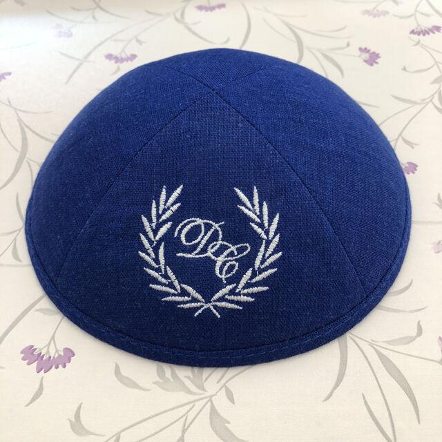 db574c2bad5 customized logo wedding yarmulke kippah kippot skullcap Jewish Cap kipa  kippas