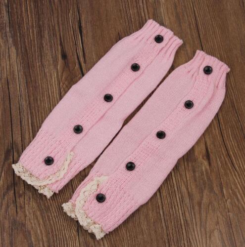 Womens Warm Winter Knit Long High Boot Socks Knee Knitted Crochet Leg Warmer LA