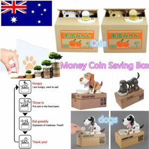 Choken-Hungry-Eating-Dog-Cat-Coin-Bank-Money-Saving-Boxes-Piggy-Bank-Gift-NM-B7