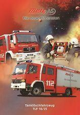 Prospekt Metz Tanklöschfahrzeug TLF 16/25 6 00 2000 Feuerwehr Feuerwehrwagen