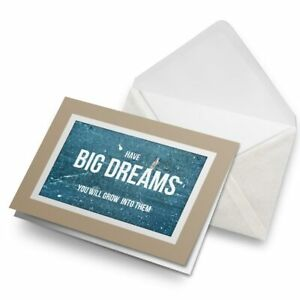 Greetings-Card-Biege-Motivational-Quote-Big-Dreams-24604