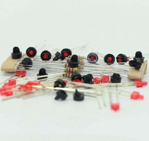 JTD11 10 Stk Signale LED rot DIY Spur N Z NEU