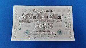 Biglietto 1000 Cornice Tedeschi 1910. Senza Circolari