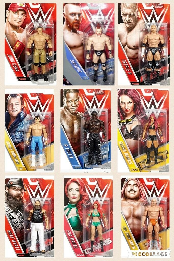 Wwe Serie Basic 59 Wrestling Action Figure Serie Lottatore Superstar Statuetta