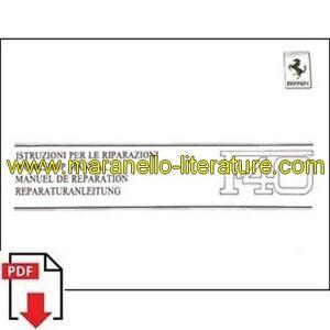 Bien Informé 1989 Ferrari F40 Workshop Manual 554/89 Pdf (it/fr/uk/de) 100% De MatéRiaux De Haute Qualité