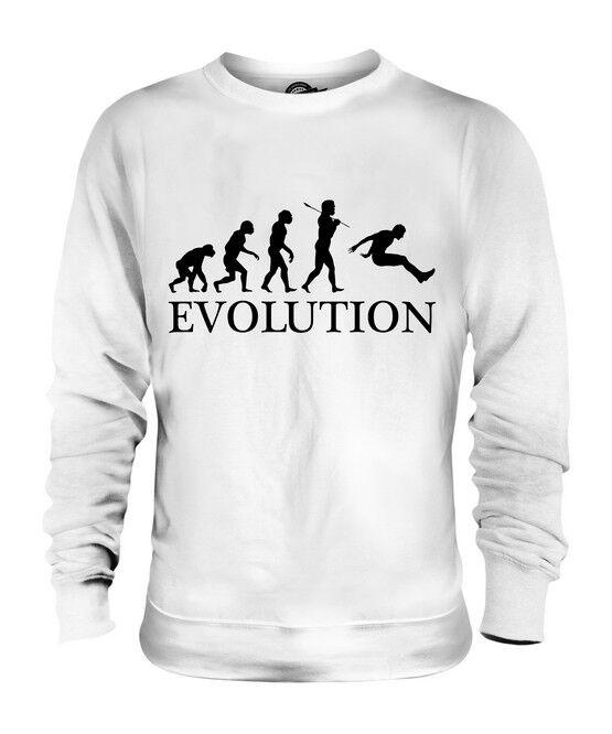 239285380ef0 LONG JUMP EVOLUTION OF MAN UNISEX SWEATER MENS WOMENS LADIES GIFT ATHLETICS