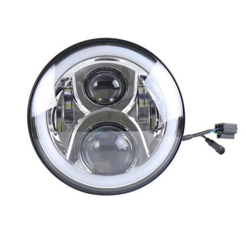 7/'/'LED Super Bright Headlight with RGB Halo Bluetooth Remote for Jeep Wrangle TJ