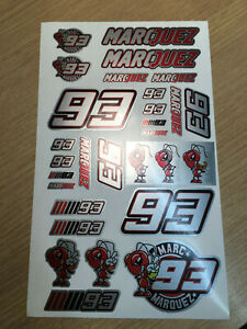 93-Marc-Marquez-Stickers-set-sheet-of-27-silver-Motorcycle-GP-size-225-x-130mm