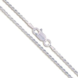 22 sterling silver necklace shiny italian rope chain pure 925 image is loading 22 034 sterling silver necklace shiny italian rope mozeypictures Choice Image