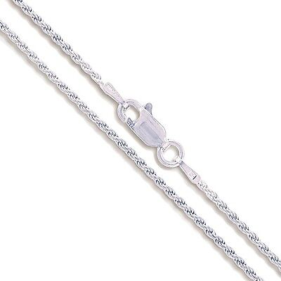 """24/"""" Sterling Silver Necklace Shiny Italian Rope Chain Pure 925 Italy Wholesale"""