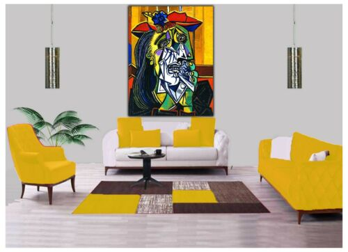 THE WEEPING WOMAN OIL PAINT BY PICASSO REPRINT  ON CANVAS WALL ART DECORATION