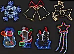 CHRISTMAS-ROPE-LIGHTS-LARGE-FESTIVE-DECORATIONS-MULTI-COLOUR-INDOORS-amp-OUTDOORS