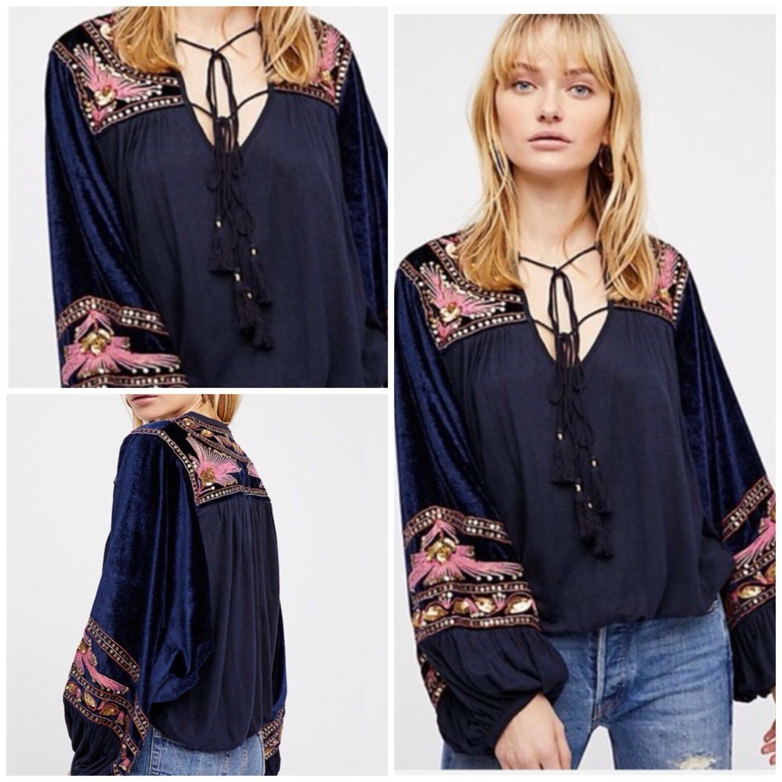 Free People Hearts Aflame Top Größe Extra Small New