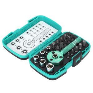 Palm-Ratchet-Wrench-Bit-1-4-034-Driver-Socket-Set-Screwdriver-Kit-Repair-Tool-Z5S0