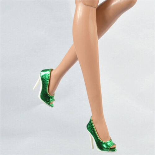 Metallic green shoes for Fashion royalty Ⅱ FR2 Nu Face 2 body doll 64-FR2-13A