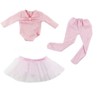 Hot-Handmade-Pink-Doll-Clothes-Ballet-Dress-Fit-for-18-039-039-American-Baby-Dolls