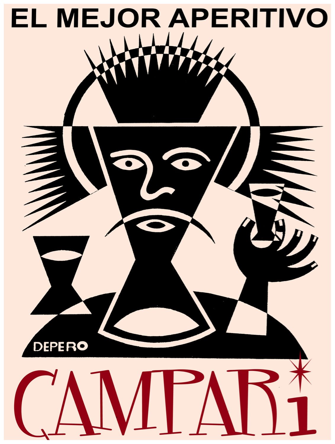 53.Art Decoration POSTER.Graphics to decorate home office.CAmpari aperitif Ad..