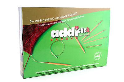 addi-click BAMBOO Interchangeable Knitting Needle set