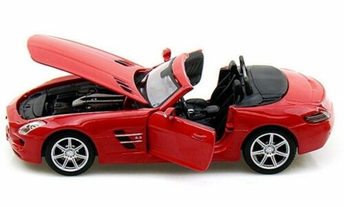 Maisto 1//24 Diecast Mercedes Benz SLS AMG Roadster Red Convertible 31272