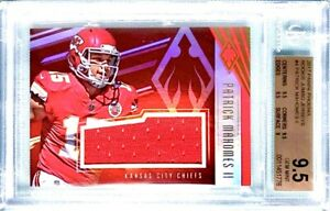 79-POP-1-BGS-9-5-RC-Patrick-Mahomes-2017-Phoenix-Rookie-Patch-RED-HOLO-JSY-4