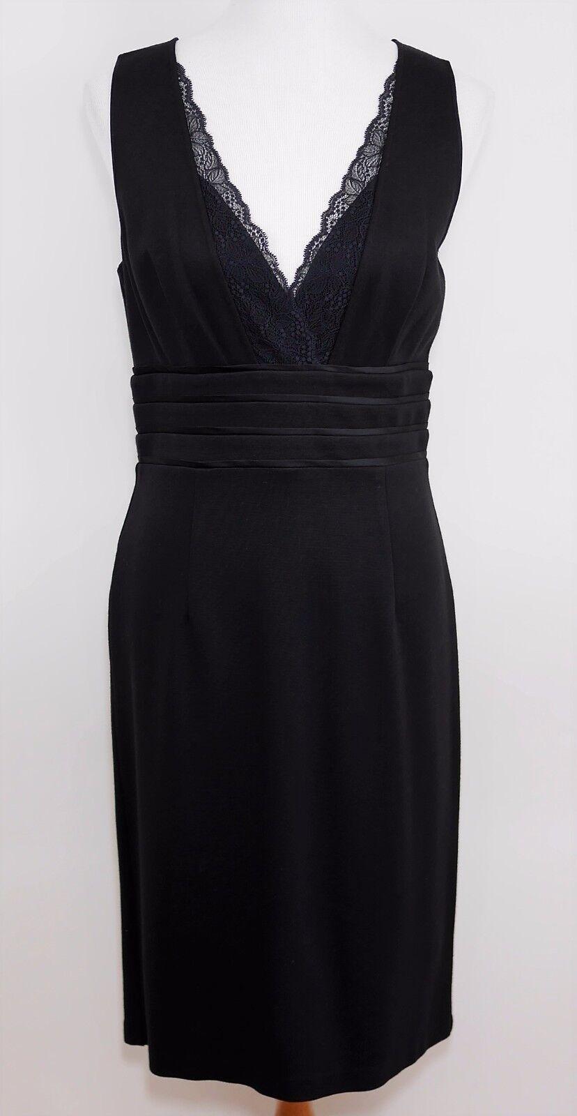 BANANA REPUBLIC schwarz Sleeveless Lace Top Dress Sheath Knee Length - damen 8