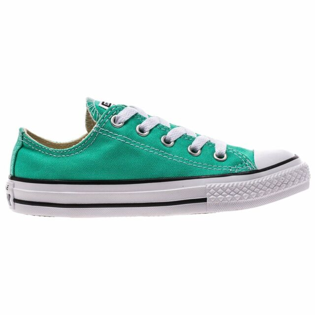 kids converse green shoes