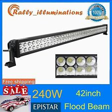 42inch 240W Led Light Bar Flood Fog Driving Lamp 4WD Truck IP67 Super Bright USA