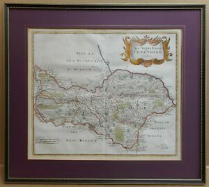 North-Riding-of-Yorkshire-Original-18th-Century-Copperplate-Map-Robert-Morden
