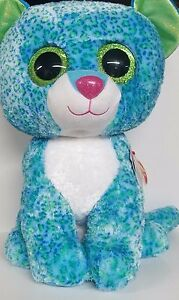 bd09c4deb97 TY Beanie Boo Collection Blue Leopard LEONA Large Plush 8421368174 ...